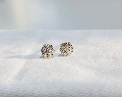 全新9K真圓鑽石耳環