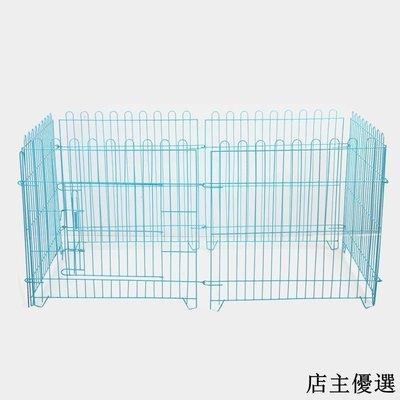 寵物籠寵物圍欄室內狗柵欄中型小型犬泰迪狗籠子折疊圍欄隔離門家用