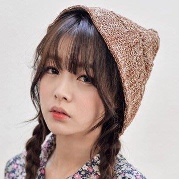 韓國秋冬時尚 森林系複古混色可愛尖尖針織毛線帽漁夫帽子 K468