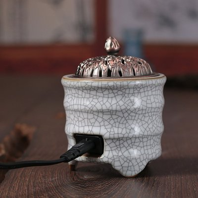 香爐倒流香爐日本香爐古韻青瓷 電子熏香爐 定時調溫檀香爐陶瓷香薰爐插電沉香爐精油爐GG126