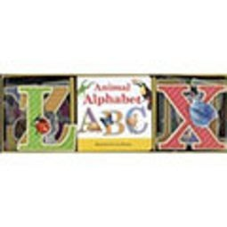 *小貝比的家*ANIMAL ALPHABET BOOK & LEARNING PLAY SET/盒裝/78折