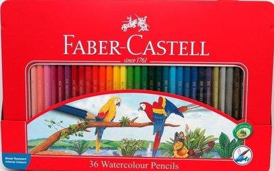 【鑫鑫文具】輝柏36色水性彩色鉛筆/水彩色鉛筆115937 (附水彩筆)紅盒~400元