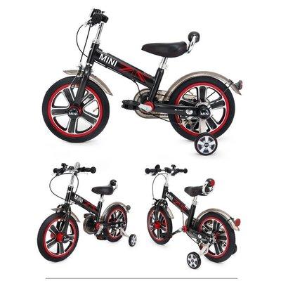 正版授權 英國 Mini Cooper 兒童腳踏車 單車 14吋 黑色