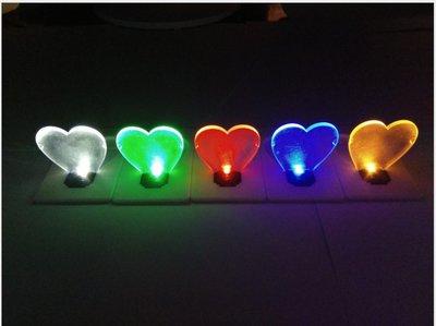創意LED名片燈 卡片燈 愛心卡片燈 星型卡片燈 燈泡顏色隨機 小夜燈