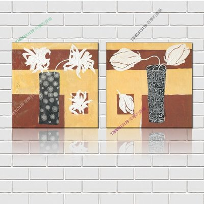 【50*50cm】【厚1.2cm】印象花卉-無框畫裝飾畫版畫客廳簡約家居餐廳臥室牆壁【280101_253】(1套價格)