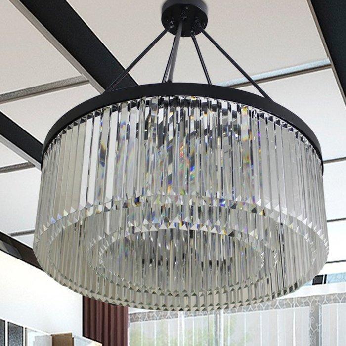 【58街】「水晶吊燈」極致典雅品味/燈具/美術燈。複刻版。GH-573