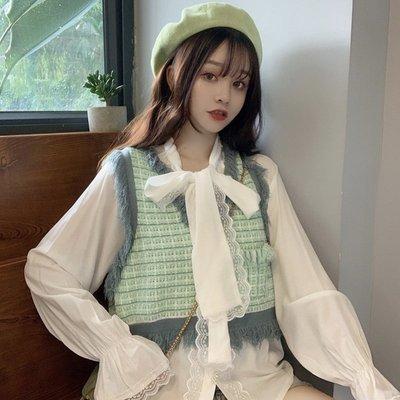 2019秋季新款韓版小香風馬甲時尚襯衫...