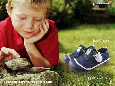 MIT 室內鞋袋組 台灣製 neomnworks 幼兒園室內鞋 koo8302深藍色 手工透氣童鞋+防潑水室內鞋袋