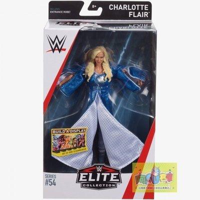 ☆阿Su倉庫☆WWE摔角 Charlotte Flair Elite 54 Figure 精華版人偶附出場大衣 熱賣中