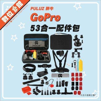 海陸組 53合一配件包 PULUZ 胖牛 GoPro  HERO3 4 5 6 7 小蟻 SJCAM 山狗  運動攝影機