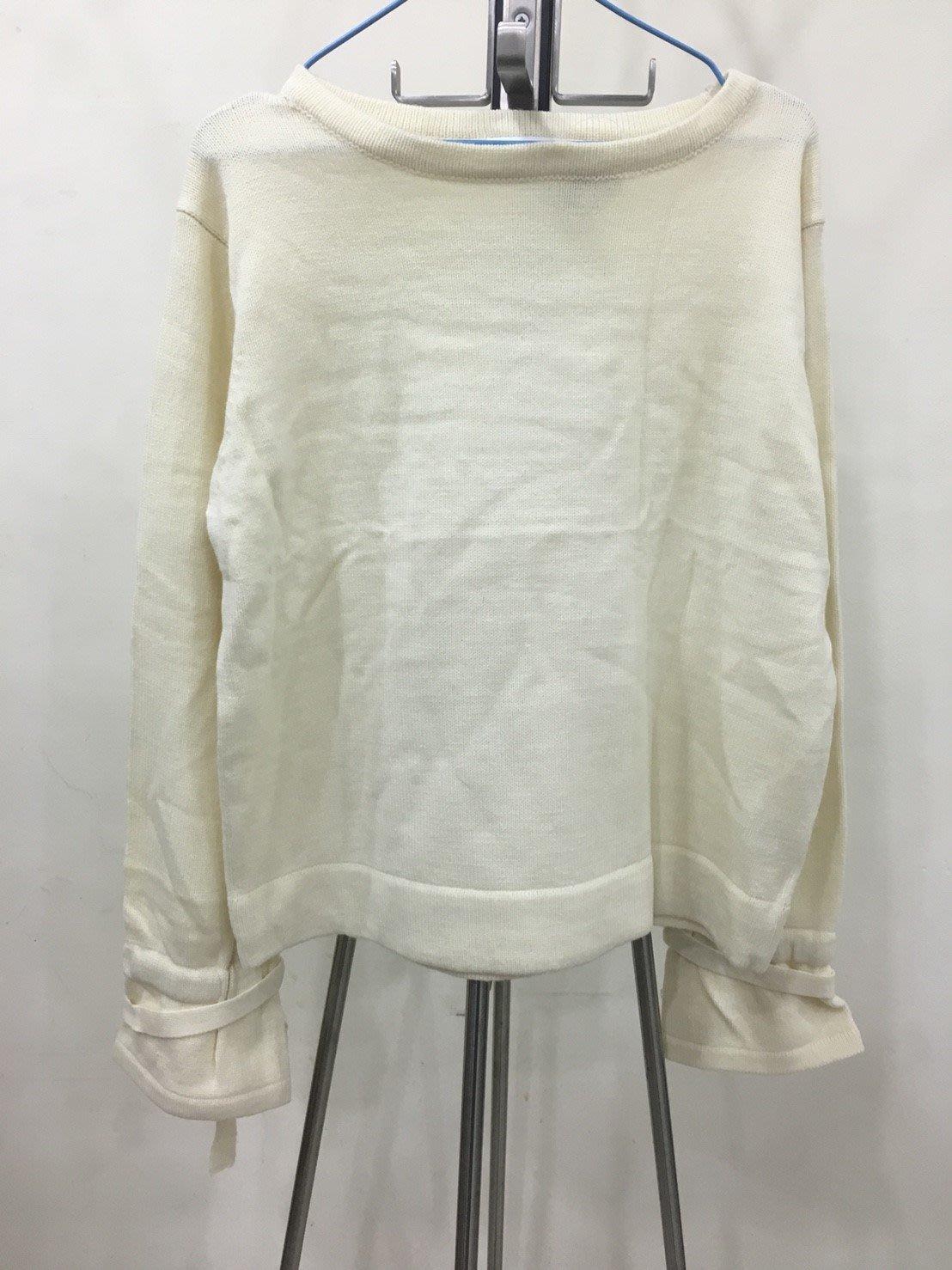 [日本全新現貨] LOWRYS FARM 白色長袖針織衫 上衣 衣服 L