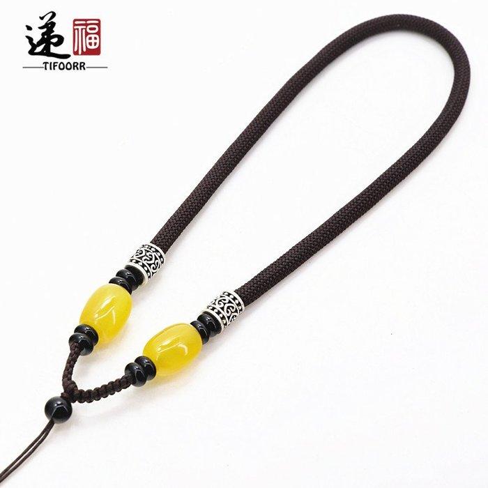 衣萊時尚-TIFOORR/遞福把玩繩 把件繩 手玩繩 短繩 粗繩 5MM粗 純銀手繩