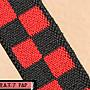 兒童彈性鬆緊帶 可調式吊帶 《P&P》 紅黑格