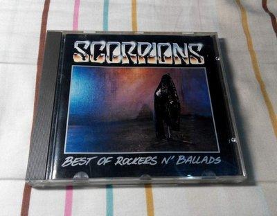 NO285 二手CD 天蠍合唱團 Scorpions BEST OF ROCKERS N' BALLADS 599元起標