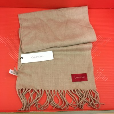 😍Calvin Klein😍Solid Woven Scarf 杏色頸巾 Heathered Almond