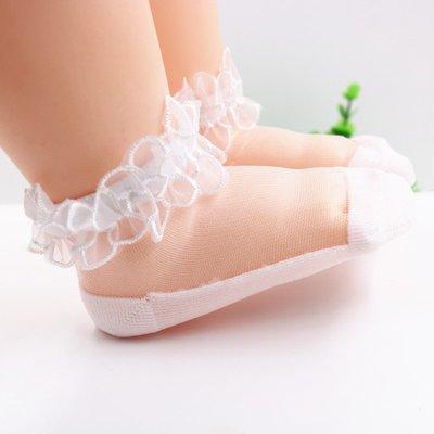 兒童襪 男童 女童 新生兒 嬰兒薄襪子6 12個月寶寶花邊襪兒童絲襪女童網眼襪超薄船襪夏季