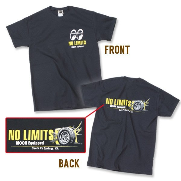 "(I LOVE樂多)MOONEYES Equipped ""NO LIMITS"" T-shirts 無極限 短T"