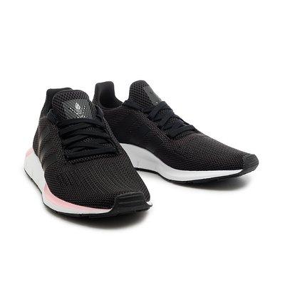 =E.P=ADIDAS SWIFT RUN W 休閒鞋 慢跑鞋 黑粉白 網布 透氣 女版 EE4552