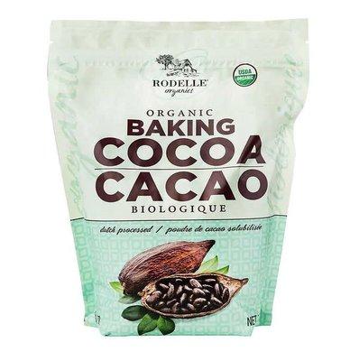 美國Rodelle羅代爾有機無糖可可粉 700g 烘焙適用 可沖泡熱巧克力 熱可可 美國製造
