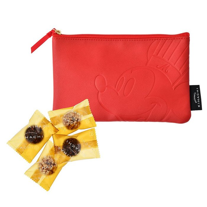 《FOS》2020情人節限定 日本 KIHACHI 可愛 米奇 巧克力 化妝包 禮物 Disney 迪士尼 送禮 限量