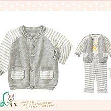 【B& G童裝】正品美國進口GYMBOREE 灰色條紋袖長袖毛衣外套6-12-18mos