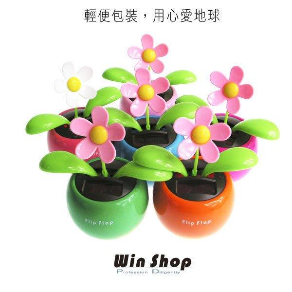【贈品禮品】B0867 B版輕便包裝日系可愛療癒系小花植物盆栽不用電池太陽能擺動
