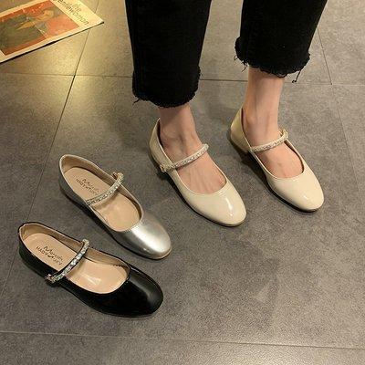 (蔚藍)淺口單鞋女夏季新款韓版時尚百搭網紅水鉆鞋子女粗跟高跟鞋潮(規格不同 價格不同 下標前先詢價)