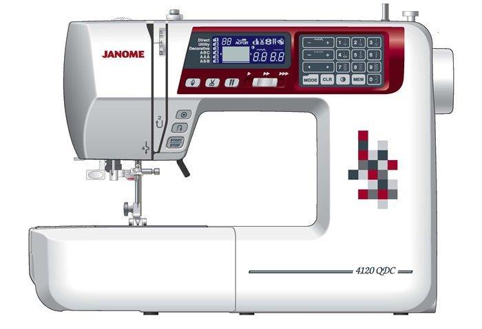 【優質服務品質保證】車樂美 JANOME 刺繡用縫紉機 4120 QDC 全新公司貨 可議價 請看關於我,來電享有勁爆價