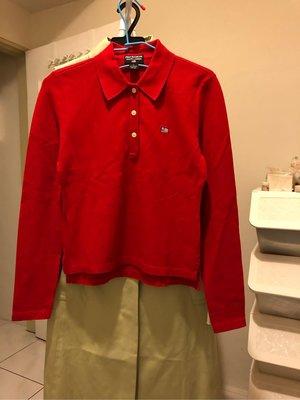 正品POLO JEANS CO RALPH LAUREN 長袖上衣(紅L)...特價出清