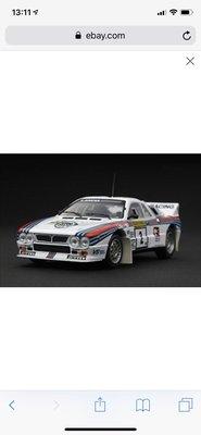 全新 1/43 Racing Model Lancia Lakes Rally car Diecast 合金車 模型 越野車 Ironman Gundam