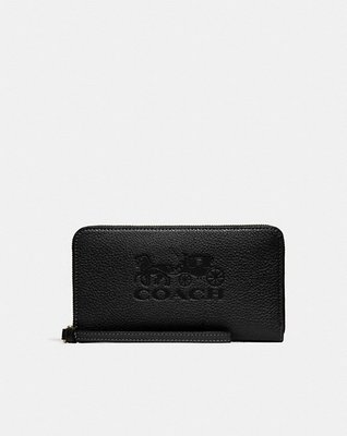 coach Jes Large Phone Wallet With Horse And Carriage