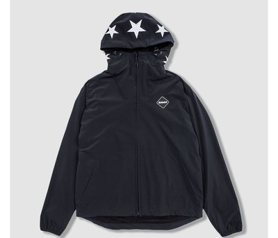 全新正品 F.C.R.B. LYCRA BIG LOGO ZIP UP BLOUSON 外套