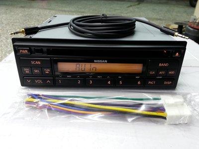 NISSAN/日產 裕隆 MARCH.原廠音響主機已改AUX IN音源輸入.非新品.賣主機跟aux