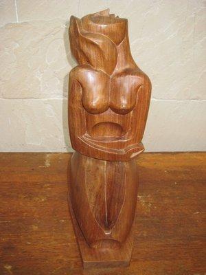 ⭐金壽藝品⭐ 花梨木雕 繆思 Muse, Wood Carving ; Kingshou Antiques