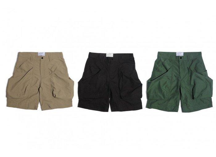 { POISON } LESS BIG POCKET SHORT-S 2019SS 寬型裁切 立體大口袋工作短褲