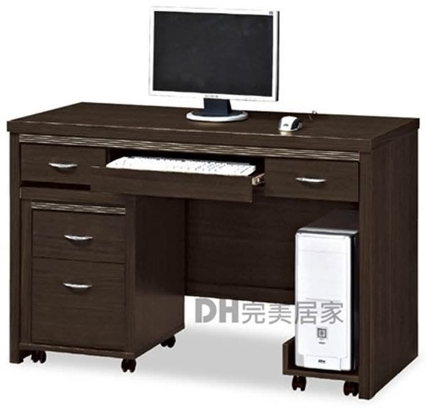 【DH】貨號B418-06《拉提斯》4尺電腦桌+活動櫃+主機架˙質感一流˙沉穩設計˙主要地區免運