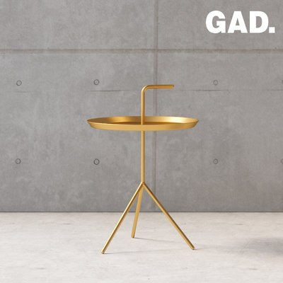 GAD邊幾 北歐小茶幾現代簡約鐵藝角幾小圓桌家用沙發金色迷你邊桌