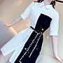 PapaDarling 20SS 獨家設計款 不規則設計款氣質收腰顯瘦 襯裙 連身裙 洋裝