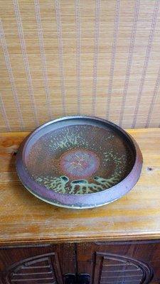 (店舖不續租清倉大拍賣)簡銘炤先生柴燒陶茶盤,原價22000元特價11000元