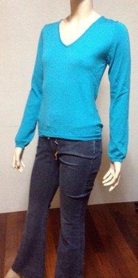 *1/2美人魚*日系 日本進口 品牌-PROPORTION 專櫃 4號 藍綠色 100% 毛衣 588元起標