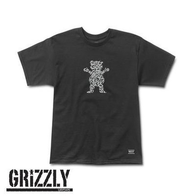 [WESTYLE] Grizzly Griptape Trippy Trail OG Bear Tee 黑 短T