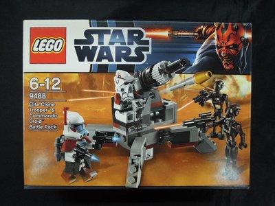 盒殘 冇人仔 MISB LEGO Star Wars 9488