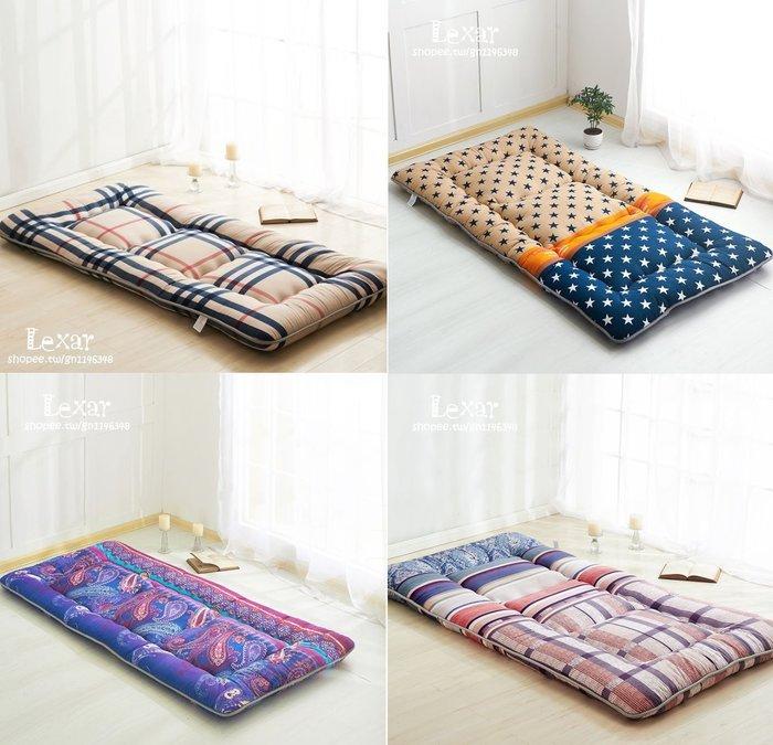 日式榻榻米床墊褥子單人學生床墊雙人加厚可折疊 地舖墊