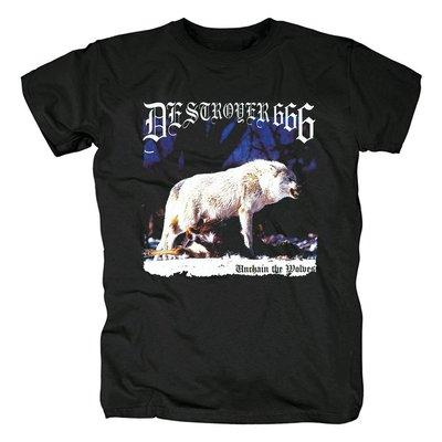 澳大利亞destroyer666鞭打死亡金屬Unchain the Wolves封面T恤