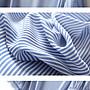 ❤Princess x Shop❤清爽有型~不挑人藍白豎條紋中袖襯衫寬鬆泡泡袖方領上衣Au-50-44