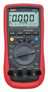 [捷克科技] UNI-T 優利德 UT 61B 高階數字萬用電錶 4000 counts RS-232 背光 專業電錶儀錶