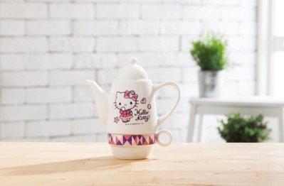 【Q寶媽】SOGO限定 來店禮 Hello Kitty 華麗變身杯壺組-全新盒裝