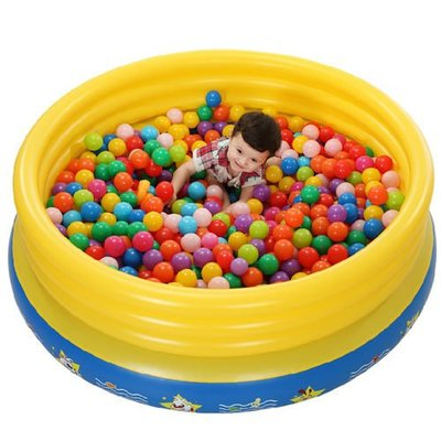 5Cgo 【批發】含稅會員有優惠 38853424663 兒童充氣蹦床多功能家用跳跳池寶寶戲水池海洋球池遊樂池充氣游泳池