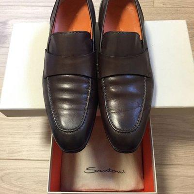 正品Santoni咖啡色男鞋 7.5號 42號