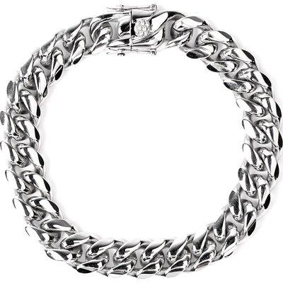 Lissom韓國代購~xxxtentacion 古巴項鍊 cuban link choker gold silver 45cm頸鍊